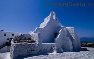 греция остров миконос церковь богородицы парапортиани