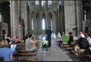 Проповедь для туристов на Мон-Сен-Мишель
