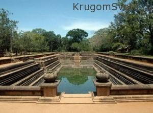 город Анурадхапура бассейн Эт Покуна
