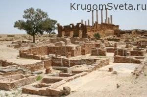 город Тунис-развалины древнего города Карфагена