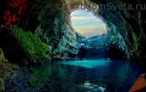остров кефалония пещера Мелиссани