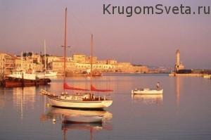 Остров Крит - на закате дня