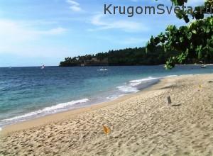 Остров Ломбок Индонезия пляжи Сенгиги