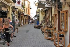 Узенькие улочки город ханья греция