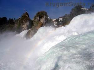 отдых в Швейцарии - Рейнский водопад