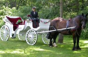 свадьба в Праге - карета молодоженам