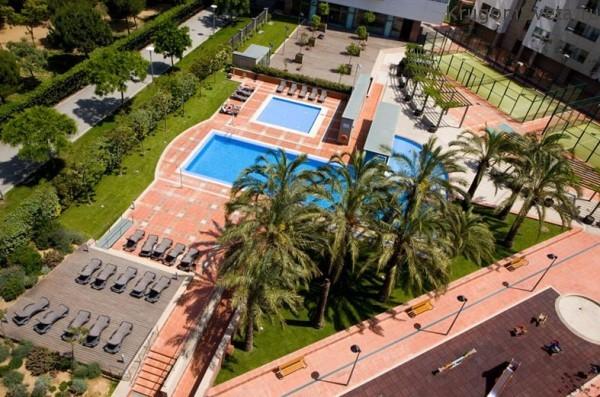 Вид из пентхауса - Аренда апартаментов в Барселоне