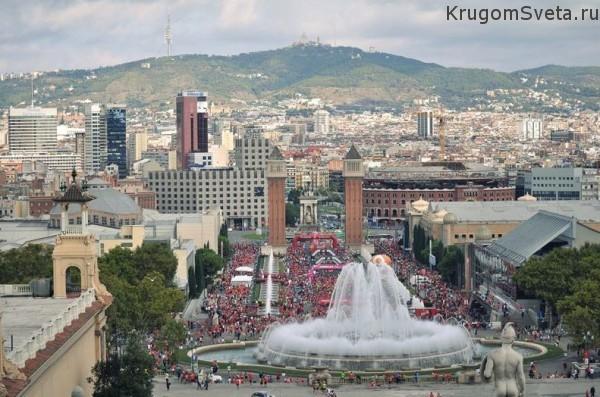музей каталонского искусства - Palau Nacional - фонтан