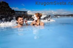 Исландия - купание в теплой воде Голубой Лагуны