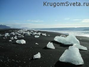 Исландия - уникальные пляжи с черным песком