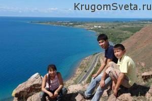 Кыргызстан - на озере Иссык-Куль
