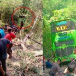 Туристический автобус сорвался с обрыва в Таиланде